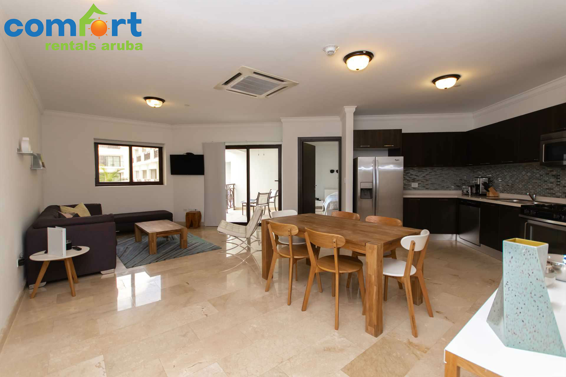 You will surely enjoy the open space in your beautiful condo