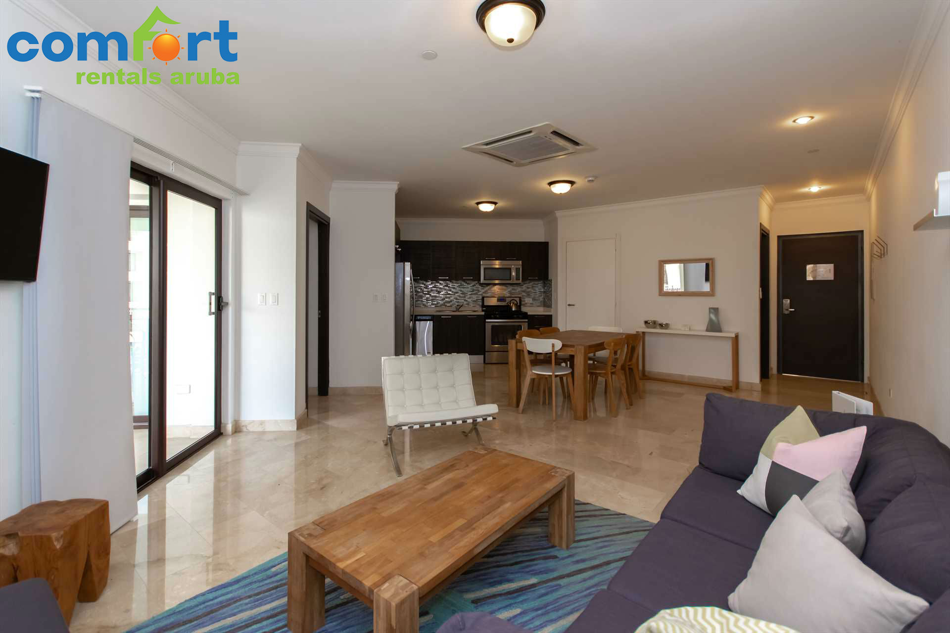 The open plan living area will make you feel right at home