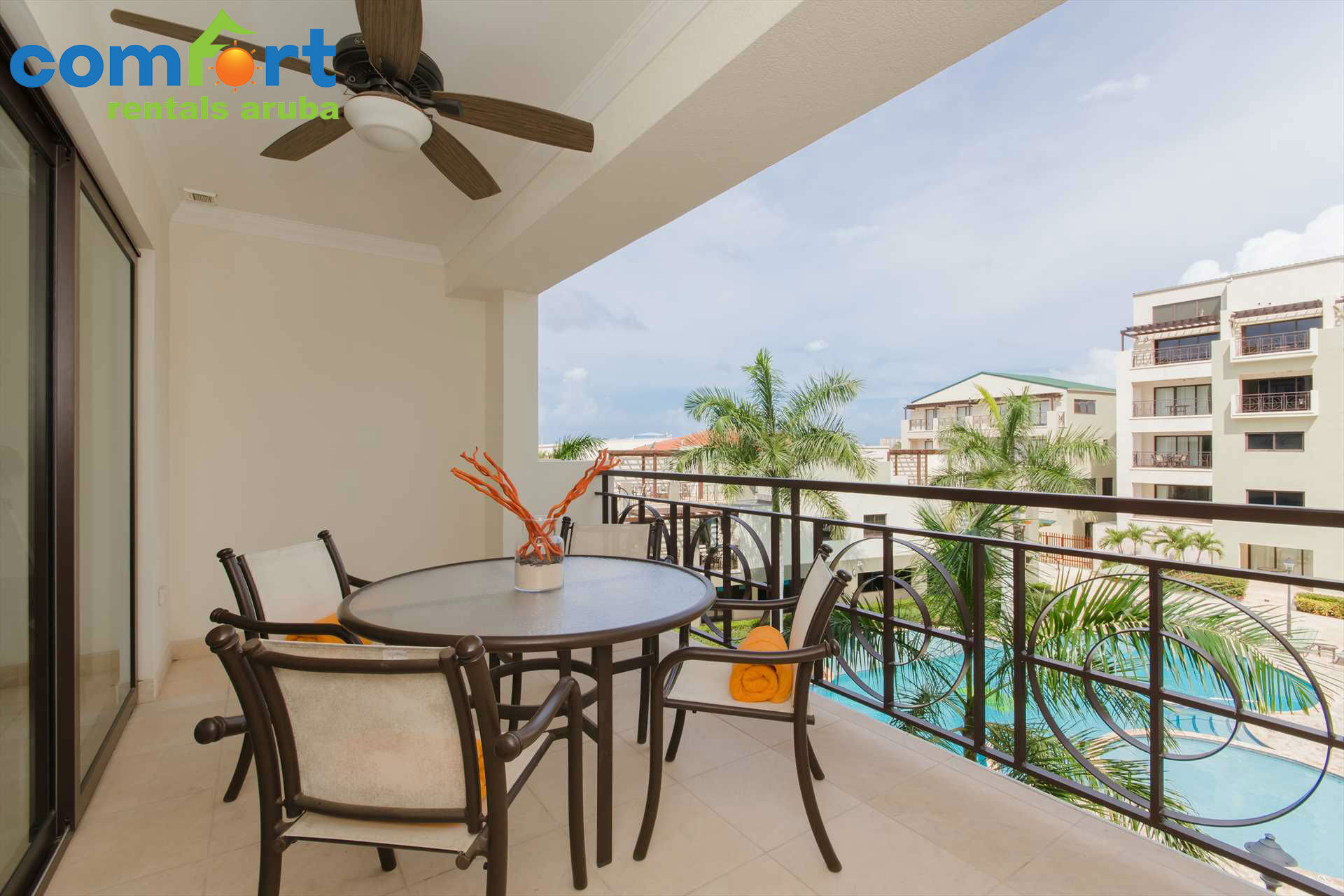 Enjoy your vacation days out on your spacious balcony