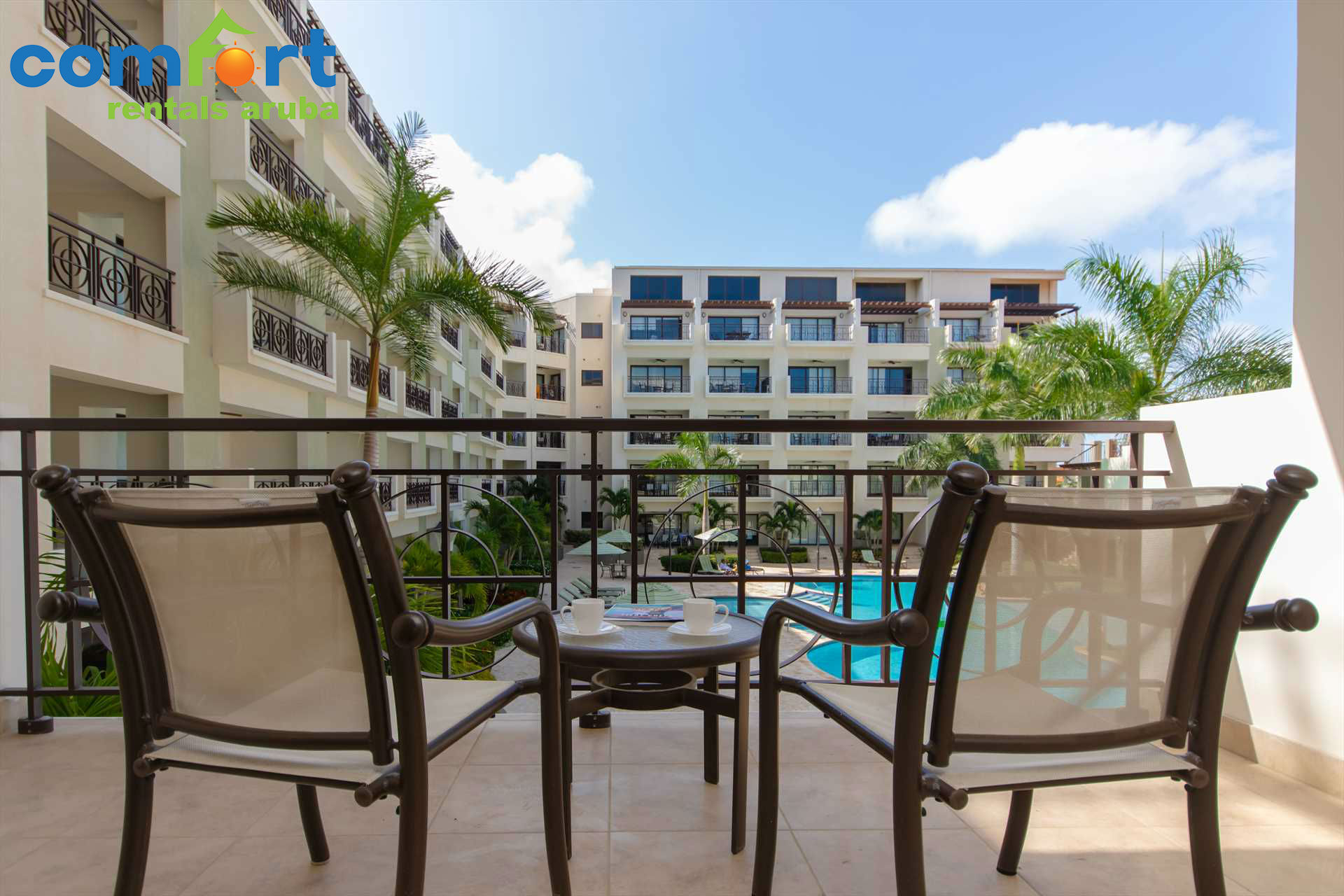 Paradise awaits at the Mazari Palm Two-bedroom condo