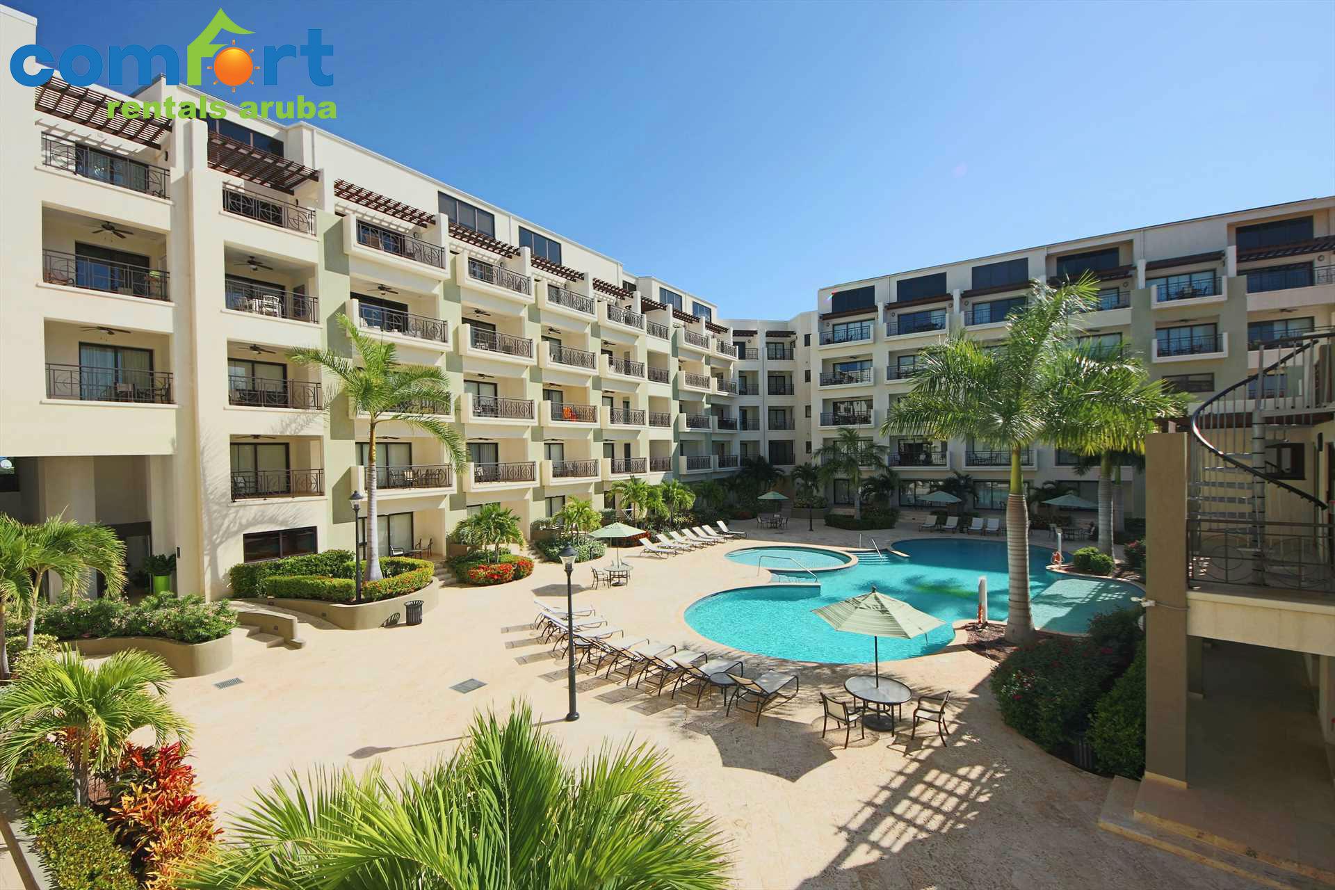 Your amazing balcony pool view